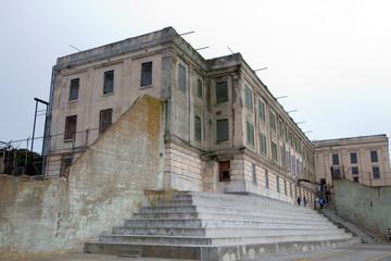 exercise yard at alcatraz
