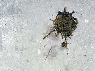 concrete with spots of a paint