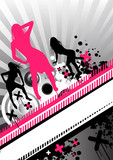 Fototapety funky dance women