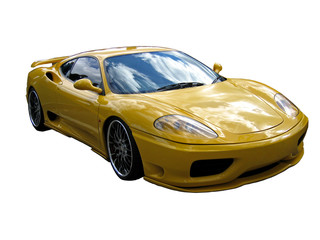 yellow supercar