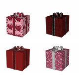 four wrapped gifts for love poster
