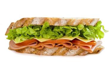 Photo: ham and salad sandwich