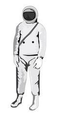 astronaute 1950s standing
