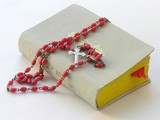 prayer-book and rosary poster