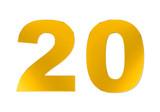 golden zwanzig-  golden twenty poster
