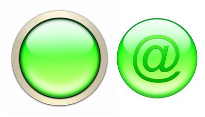 grüner glasbutton