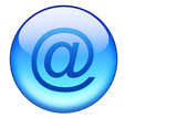 blauer email button poster