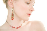 red jewellery portrait 2 poster