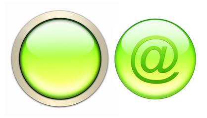 grüngelbe email glasbutton