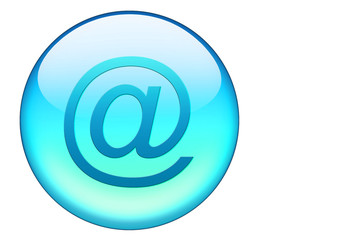 email button in hellblau