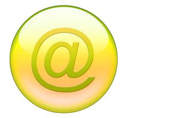gelber email glasbutton