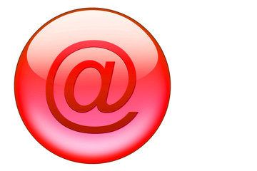roter email glasbutton
