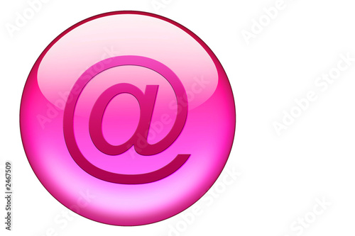 email glasbutton in pink