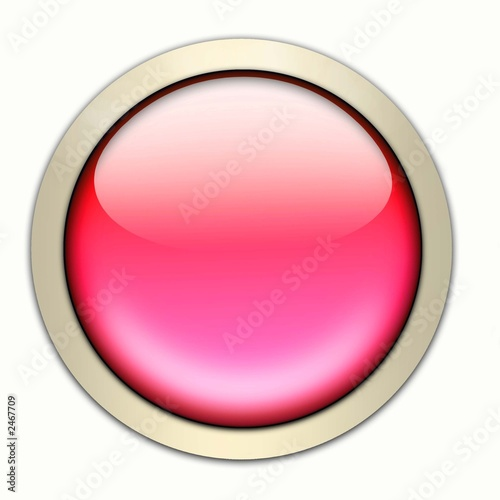 roter glasbutton