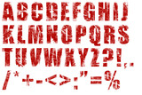 grunge alphabet poster