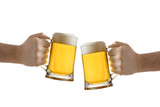 Fototapety two people holding a beer glass