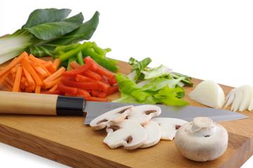 tailler des légumes