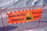 danger avalanche poster