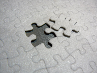 puzzle with piece out