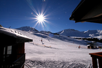 la plagne : sun and snow