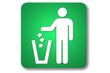 piktogramm flughafen: litter disposal