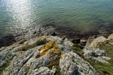 bretagne granit et  vert océan poster