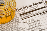 tape measure next to nutrition facts poster
