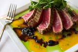brazed raw tuna with passionfruit sauce poster