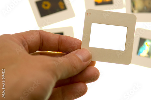 poster of inspecting slides - blank slide - insert your own picture