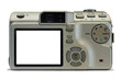 compact digital camera, empty display