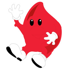 a happy blood drop