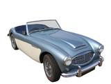 classic british sportscar poster