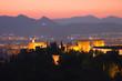 alhambra night sunset