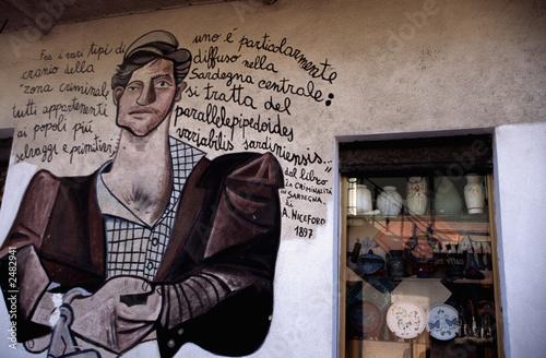 Leinwanddruck Bild murales di orgosolo