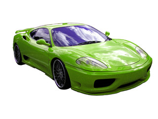 light green supercar