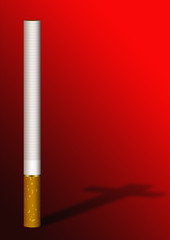 cigarette cross shadow on red