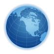 world globe north america
