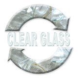 clear glass recycling poster