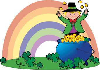 leprechaun and coins