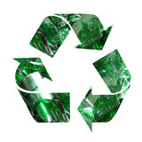 color glass recycling poster