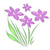 pink pastel flowers poster