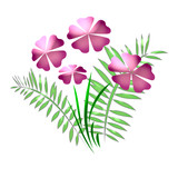 flowers pastel pink poster