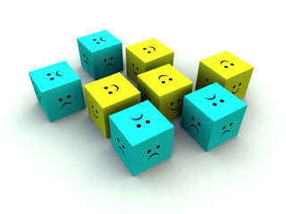 sad and happy cube 5