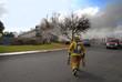 Leinwanddruck Bild - fire fighters