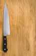 kithcen knife on cutting board.