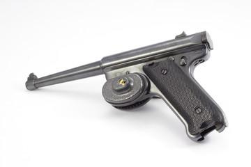 22 caliber pistol with trigger lock