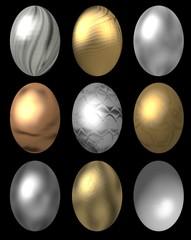 metallic ostereier