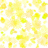 yellow flower gift wrap poster