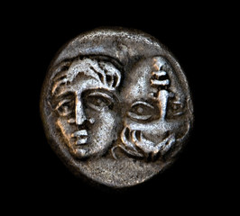 ancient greek coin janus