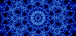 blue glowing fractal (24e)